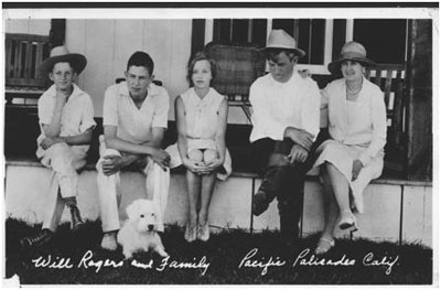 Will Rogers and his family