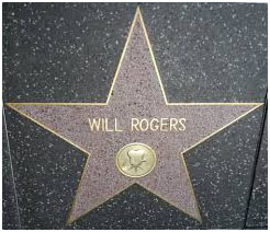 Will Rogers star on hollywood walk of fame