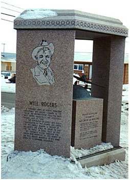 Will Rogers-Wiley Post Memorial in Barrow, Alaska