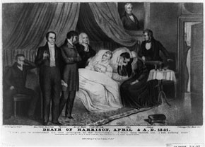 William Henry Harrison death bed
