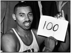 Wilt Chamberlain after he scored 100 points in a game