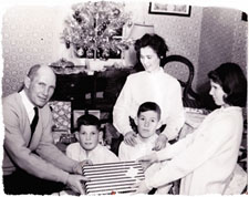 Y.A. Tittle and family