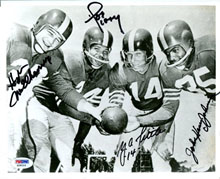 Y.A. Tittle with 49er's backfield