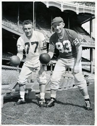 Y.A. Tittle and Charlie Conerly