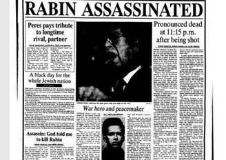 news paper report of Yitzhak Rabin death