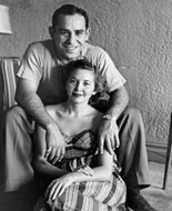 Yogi Berra and wife, Carmen