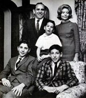Yogi Berra with his wife and kids