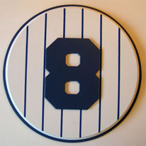 Yogi Berra retired number 8