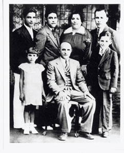 Yogi Berra's family as a youth