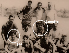 Yogi Berra and Joe Garagiola team photo when they were kids