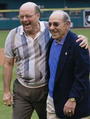 Yogi Berra and Joe Garagiola later in life
