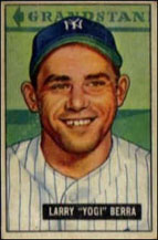 Yogi Berra, one of his first baseball cards