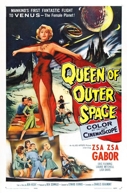Zza Zza Gabor Queen of outer space advertisement