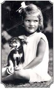 Jacqueline Kennedy Onassis as a child