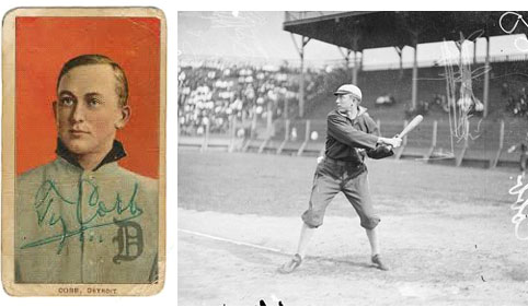 Image result for baseballs ty cobb made his debut